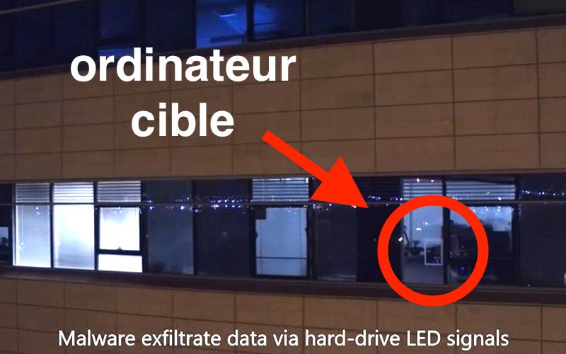 Los hackers roban archivos de forma remota a través del LED en el disco duro, en vídeo