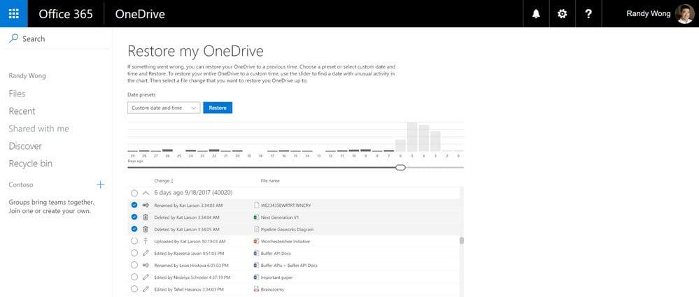 """Ransomware: Opción """"Restauración de archivos"""" de OneDrive para empresas"""