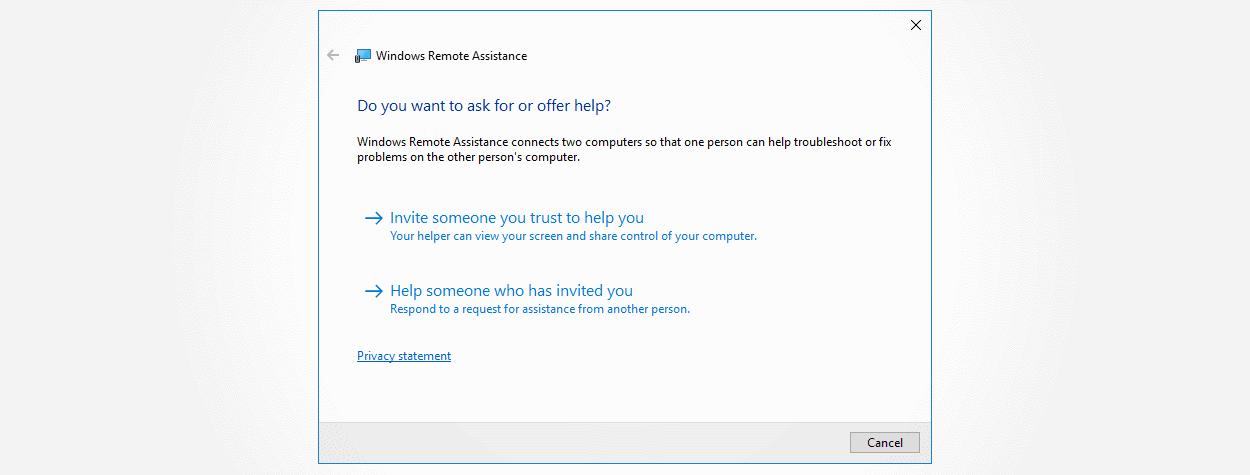 La herramienta de asistencia remota de Windows se puede utilizar para ataques dirigidos