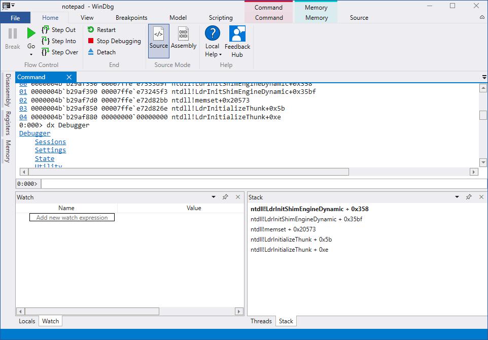La herramienta de depuración de Windows WinDbg se beneficia de un importante cambio de imagen 2