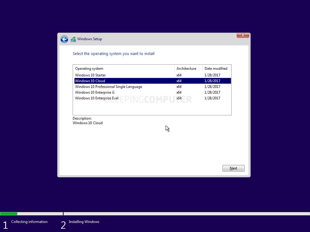 Los archivos ISO y las capturas de pantalla revelan en línea las fugas del nuevo sistema operativo Windows Cloud de Microsoft