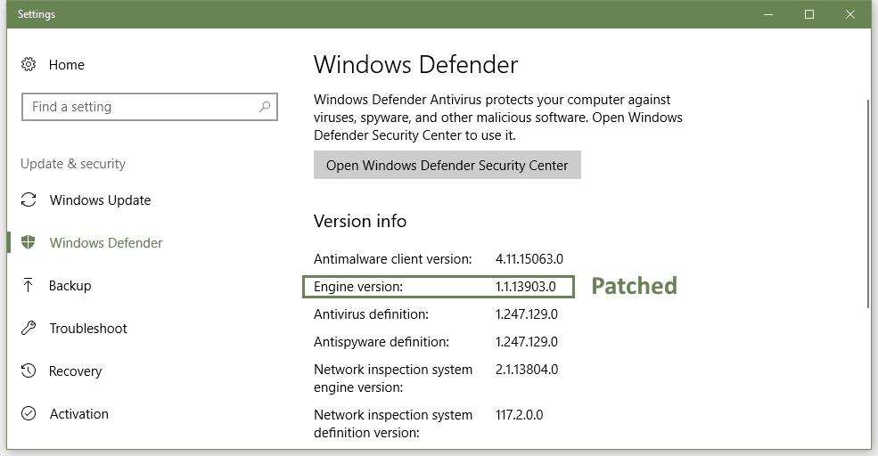 Microsoft mata silenciosamente otro agujero en Windows Defender
