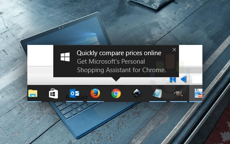 Windows 10 quiere venderle una extensión de Chrome con publicidad forzada
