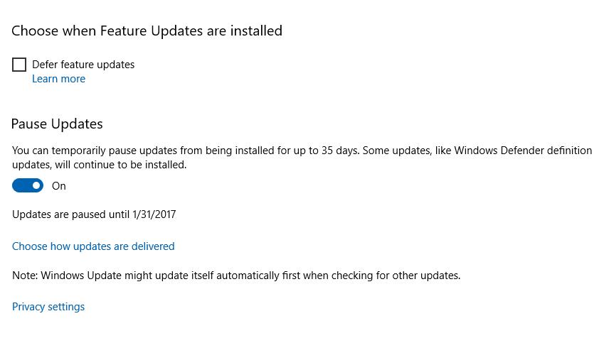 Windows 10 pronto le permitirá bloquear las actualizaciones no deseadas