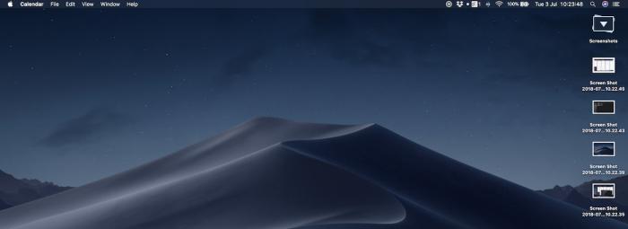 Cómo tomar capturas de pantalla en macOS Mojave (imprimir)