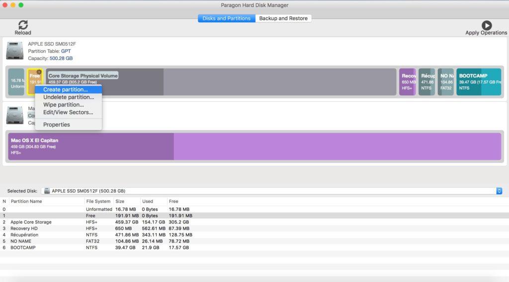 Administración de particiones en Mac con Paragon Hard Disk Manager (HFS+, NTFS, FAT16/32, EXT2/3/4) 2