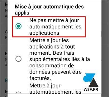 Android: desactivar la actualización automática de la aplicación 5