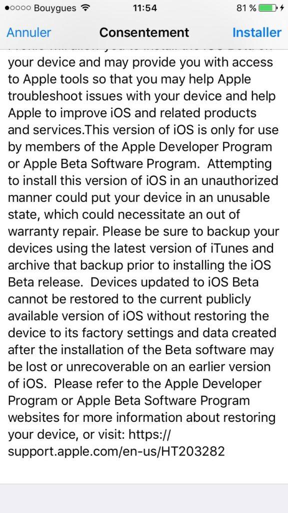 Instalar iOS 10 beta public 5