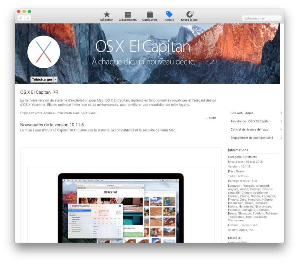 Descenso de MacOS Sierra (10.12) a Mac OS X El Capitan (10.11) 1