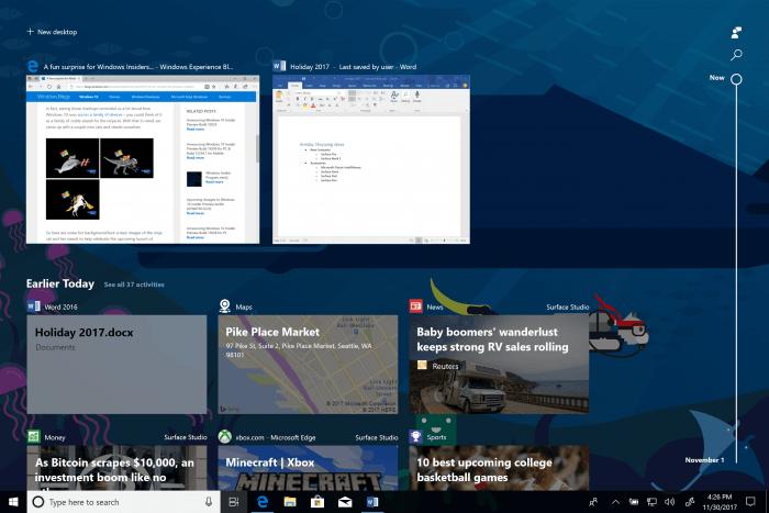 Novedades de la primera actualización importante de Windows 10 a 2018