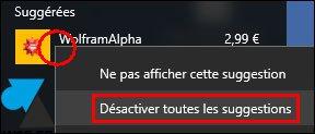 Windows 10: Desactivar la publicidad en el menú Inicio 3
