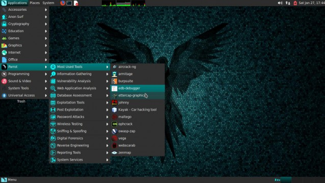 Parrot, una prueba de distribución basada en Debian para seguridad, desarrollo y privacidad. 2