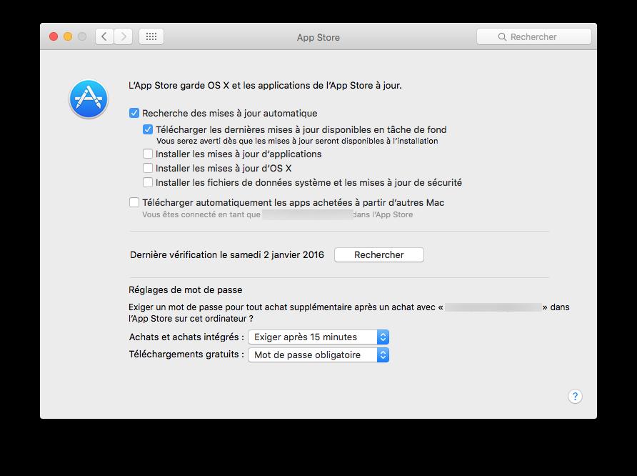 Mac App Store: configuración bajo OS X El Capitan (10.11) 3