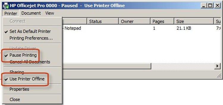 Impresora fuera de línea, ¿qué hacer? 3