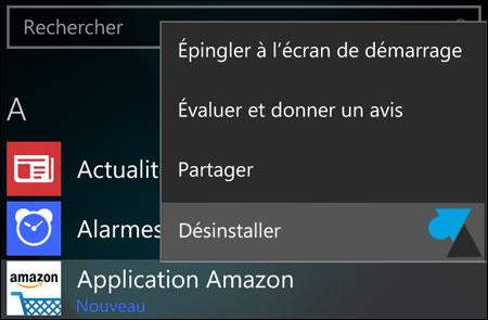 Windows 10 Mobile: desinstalación de una aplicación 3