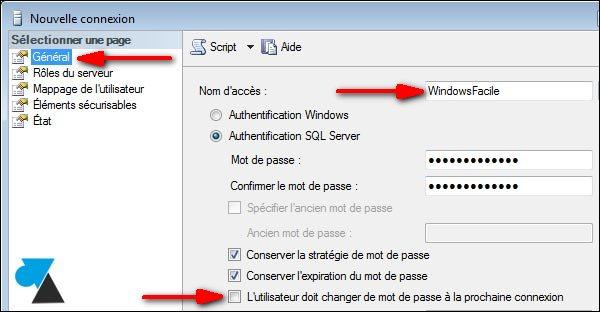 Crear un usuario de sólo lectura en SQL Server 3