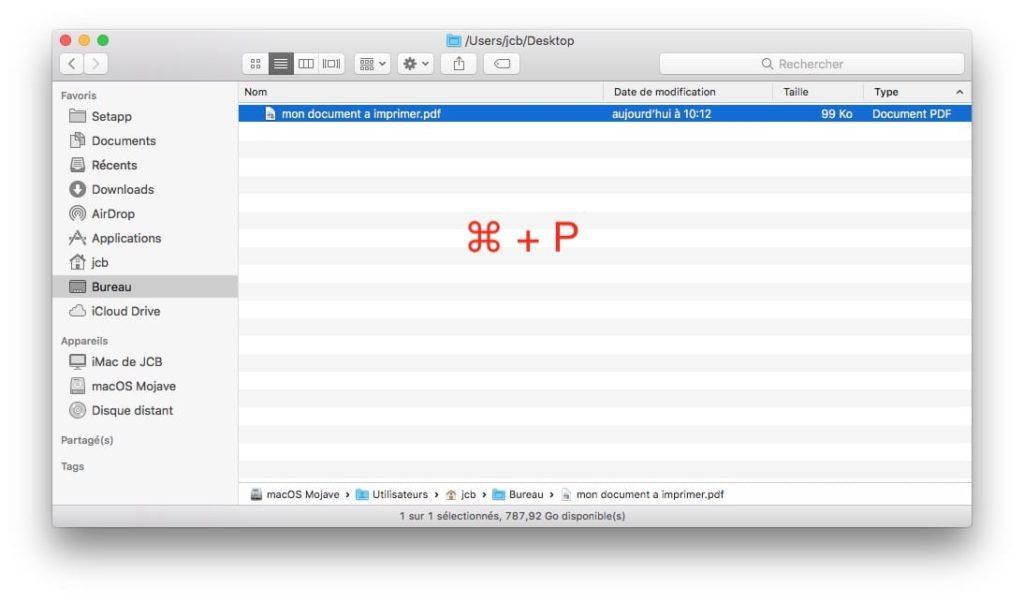 Imprimir un archivo en Mac (Finder, app, atajo) 3
