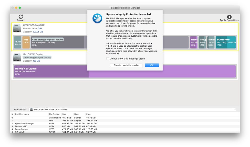 Administración de particiones en Mac con Paragon Hard Disk Manager (HFS+, NTFS, FAT16/32, EXT2/3/4) 1