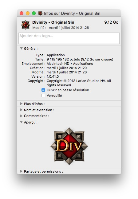 Optimizar un juego en la pantalla de Mac / MacBook Retina 2