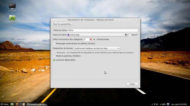 Modificar el tema del menú y la barra de tareas de Linux Mint Maya Cinnamon Mint 2