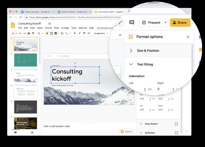 Google Docs, hojas de cálculo y presentaciones reciben nuevo Material Design 1