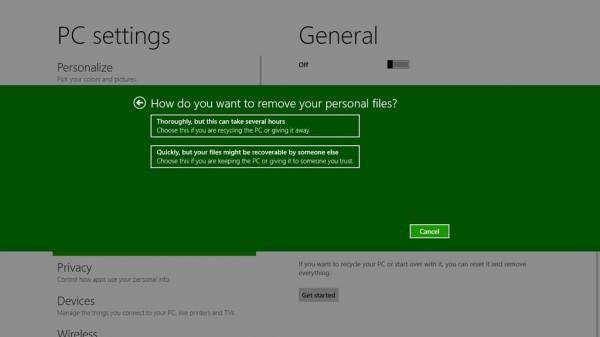 Windows 8 tendrá la opción de reinicio que borra todo 1