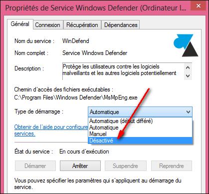 Habilitar y deshabilitar el antivirus integrado en Windows 8 8