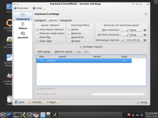 Prueba de escritorio PCLinuxOS KDE 2012 4
