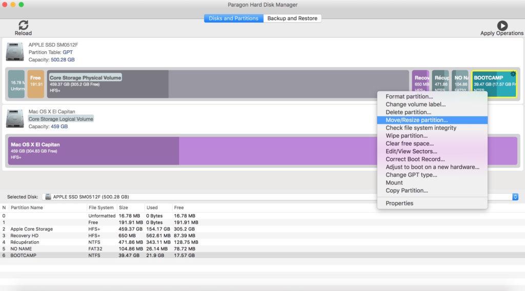Administración de particiones en Mac con Paragon Hard Disk Manager (HFS+, NTFS, FAT16/32, EXT2/3/4) 4