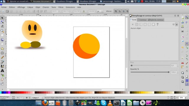 Inkscape, dibuja un carácter simple. 5