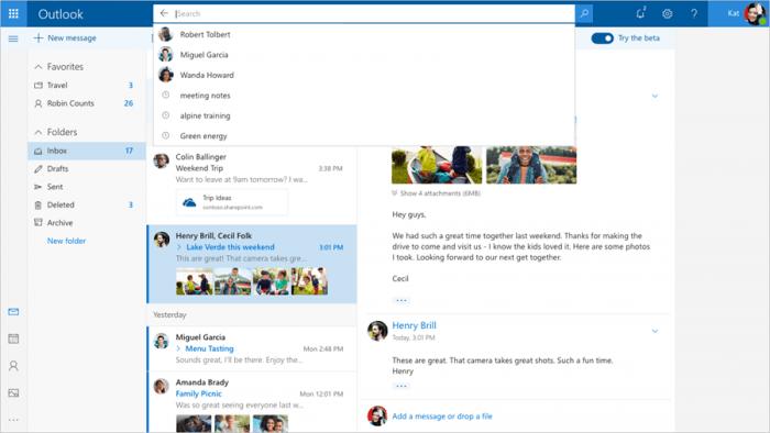 La nueva interfaz de Outlook.com es más rápida e inteligente