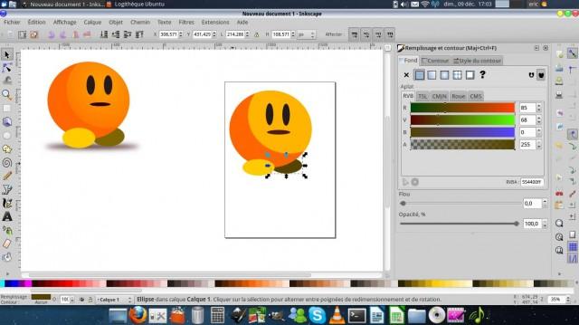 Inkscape, dibuja un carácter simple. 9