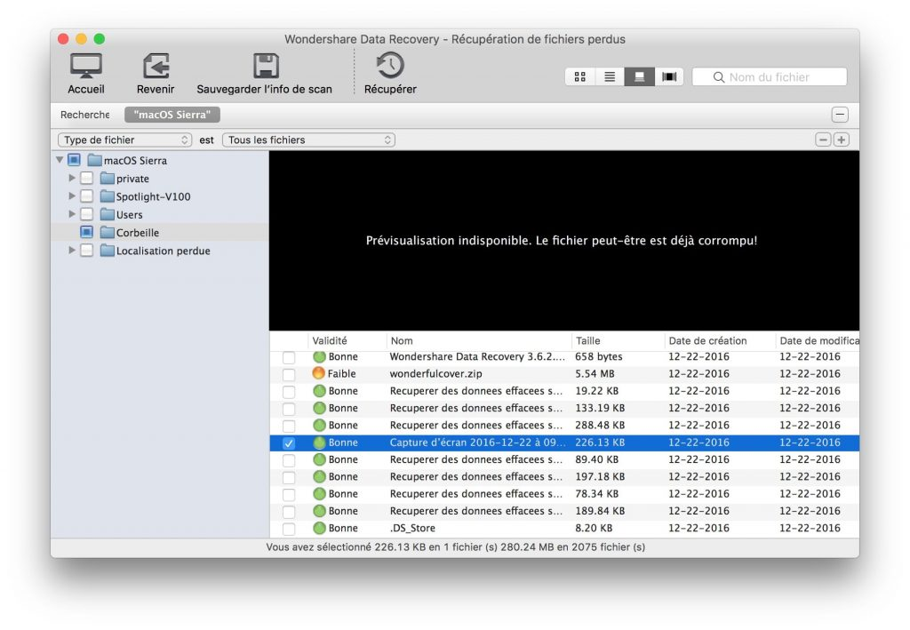 Recuperación de datos borrados en Mac OS Sierra (10.12) 4