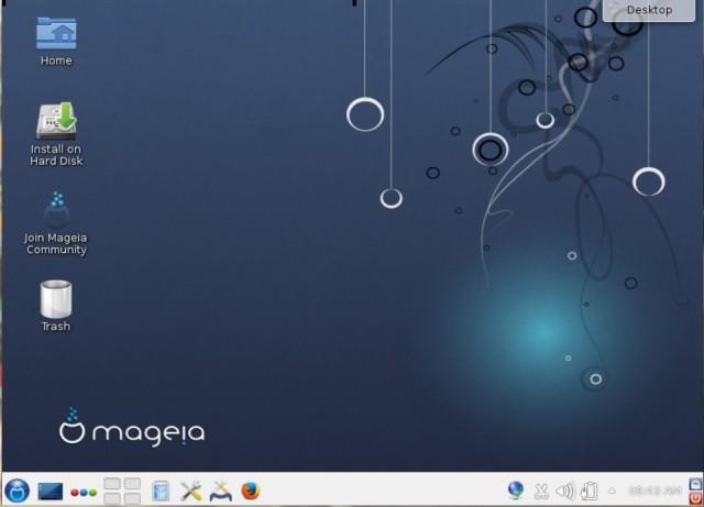 Mageia 4 alfa 3 apunta al final de su nariz antes de la salida final. 1