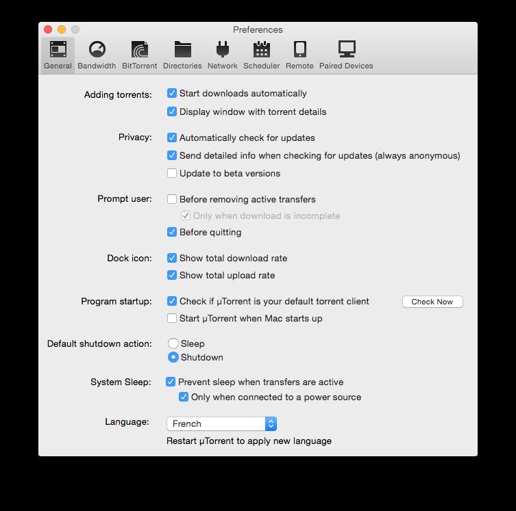 Configuración de uTorrent Yosemite en 7 pasos (Mac OS X 10.10) 2