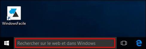 Windows 10: eliminar la barra de búsqueda 2