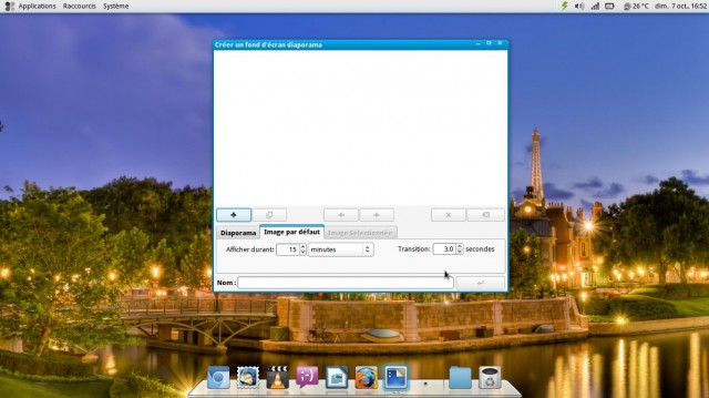 Una presentación de diapositivas como fondo de pantalla en Fuduntu 2