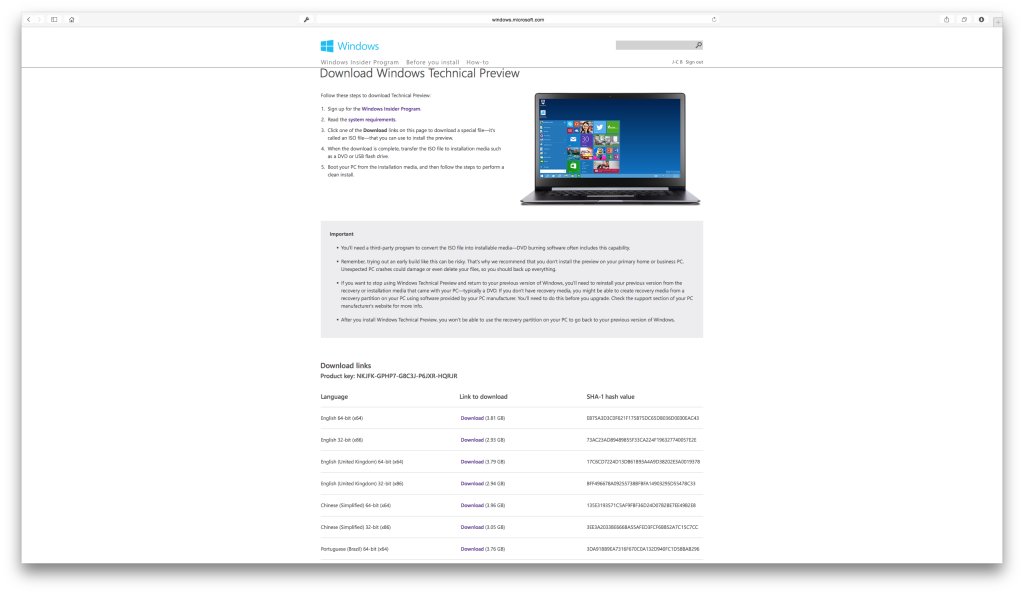 Cómo instalar Windows 10 en Mac OS X Yosemite, Mavericks...... 2
