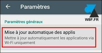 Android: desactivar la actualización automática de la aplicación 4