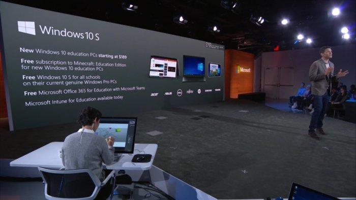 Windows 10 S es el sistema para portátiles educativos que competirá con los Chromebooks