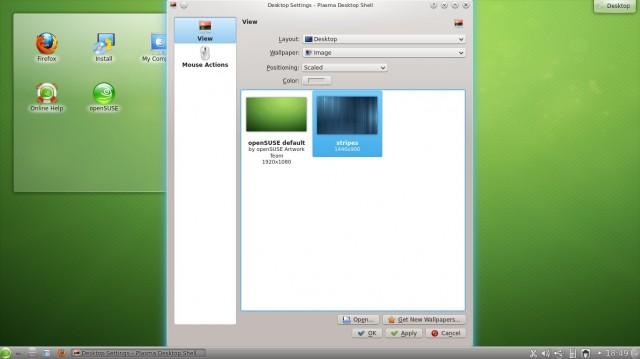 Cambiar el fondo de pantalla de OpenSuse 12.2 Kde 2