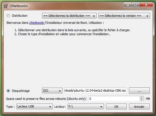 UnetBootIn para iniciar su distribución desde una llave USB 5