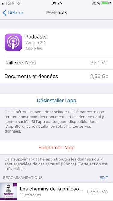 Gestiona el espacio de almacenamiento del iPhone / iPad / iPod (iOS 11) 6
