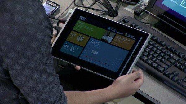 Microsoft muestra Windows 8 en acción en una tableta