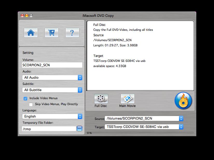 Cómo copiar un DVD de vídeo a Yosemite (Mac OSX 10.10) 2