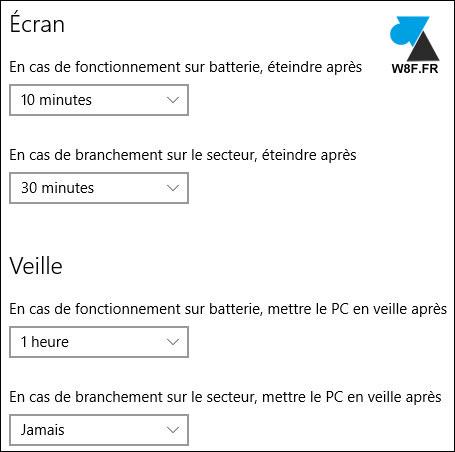 Windows 10: Configurar el modo de espera 4
