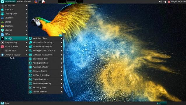 Parrot, una prueba de distribución basada en Debian para seguridad, desarrollo y privacidad. 3