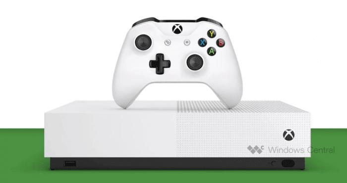 Microsoft puede lanzar la versión de Xbox One S sin entrada de disco en mayo