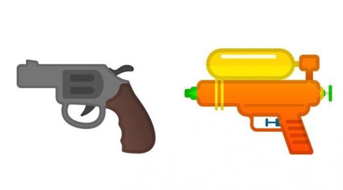 Google, Facebook y Microsoft siguen a Apple e intercambian armas de fuego emoji