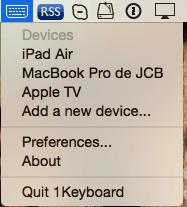 1Teclado: un solo teclado para Mac, iPad, iPhone, AppleTV....